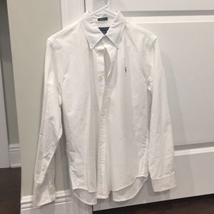 Ralph Lauren Boys Long Sleeve Oxford Shirt White